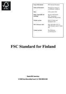 FSC Standard for Finland