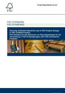 FSC STANDARD FSC-STANDARD