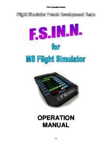 FSInn Operation Manuel OPERATION MANUAL - 1 -