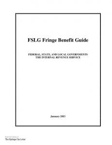 FSLG Fringe Benefit Guide