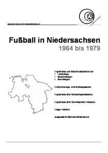 Fußball in Niedersachsen 1964 bis 1979