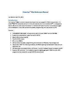 Fubarino Mini Reference Manual