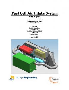 Fuel Cell Air Intake System Final Report