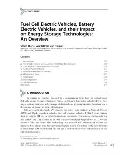 Fuel Cell Electric Vehicles, Battery Electric Vehicles, and their Impact on Energy Storage Technologies: An Overview