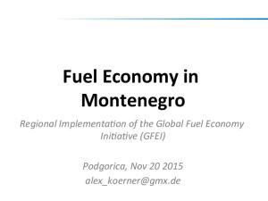 Fuel Economy in Montenegro