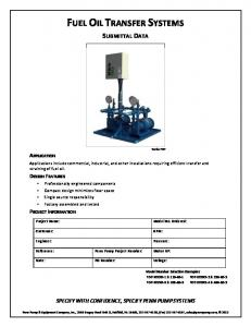 FUEL OIL TRANSFER SYSTEMS