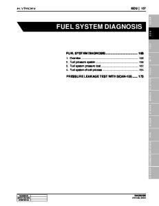 FUEL SYSTEM DIAGNOSIS