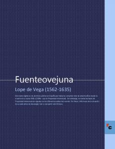 Fuenteovejuna. Lope de Vega ( )
