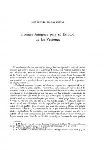 Fuentes Antiguas para el Estudio de los Vettones