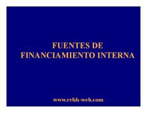 FUENTES DE FINANCIAMIENTO INTERNA