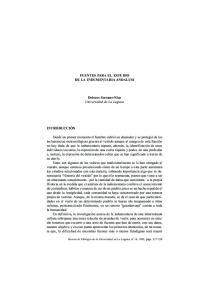 FUENTES PARA EL ESTUDIO DE LA INDUMENTARIA ANDALUSI. Dolores Serrano-Niza Universidad de La Laguna