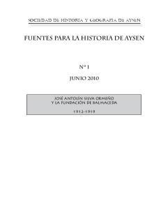 FUENTES PARA LA HISTORIA DE AYSEN