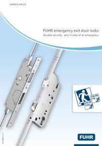 FUHR emergency exit door locks