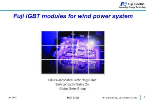 Fuji IGBT modules for wind power system