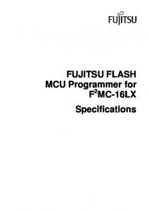 FUJITSU FLASH MCU Programmer for F 2 MC-16LX Specifications
