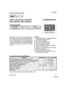 FULL-BRIDGE IGBT MODULE