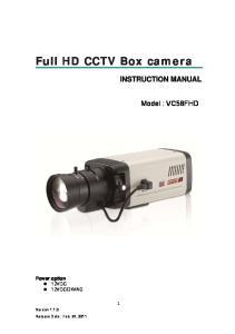 Full HD CCTV Box camera