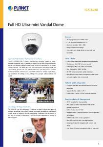 Full HD Ultra-mini Vandal Dome