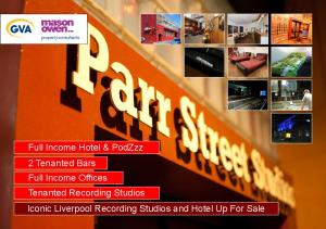 Full Income Hotel & PodZzz 2 Tenanted Bars Full Income Offices Tenanted Recording Studios Iconic Liverpool Recording Studios and Hotel Up For Sale