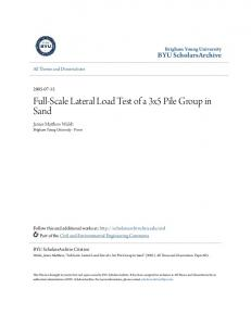 Full-Scale Lateral Load Test of a 3x5 Pile Group in Sand