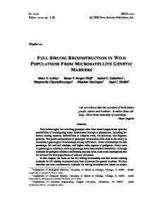 FULL SIBLING RECONSTRUCTION IN WILD POPULATIONS FROM MICROSATELLITE GENETIC MARKERS