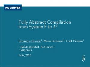 Fully Abstract Compilation from System F to λ σ