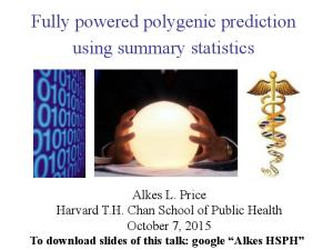 Fully powered polygenic prediction using summary statistics