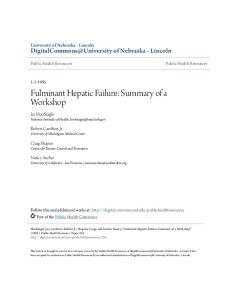 Fulminant Hepatic Failure: Summary of a Workshop