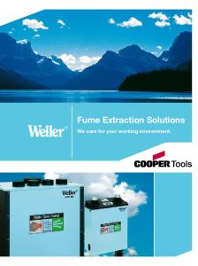 Fume Extraction Solutions. We care for your working environment