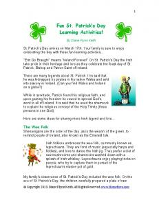 Fun St. Patrick s Day Learning Activities!