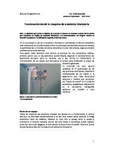 Funcionamiento de la maquina de anestesia inhalatoria