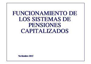 FUNCIONAMIENTO DE LOS SISTEMAS DE PENSIONES CAPITALIZADOS. Noviembre 2015