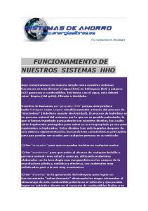 FUNCIONAMIENTO DE NUESTROS SISTEMAS HHO