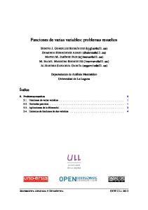 Funciones de varias variables: problemas resueltos