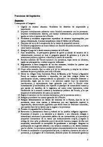 Funciones del legislativo