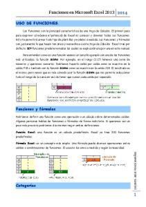 Funciones en Microsoft Excel