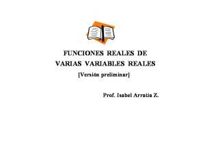 FUNCIONES REALES DE VARIAS VARIABLES REALES