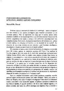 FUNCIONES RELIGIOSAS DEL MITO EN EL MUNDO ANDINO CUZQUEf401