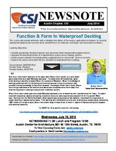Function & Form in Waterproof Decking