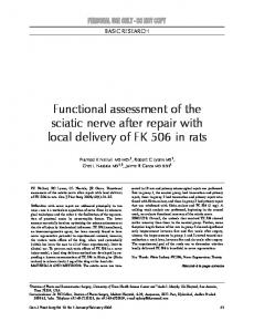 Functional assessment of the sciatic nerve after repair with local delivery of FK 506 in rats