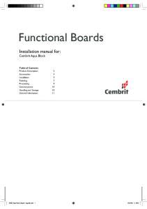 Functional Boards. Installation manual for: Cembrit Aqua Block