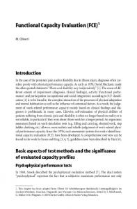 Functional Capacity Evaluation (FCE) 1