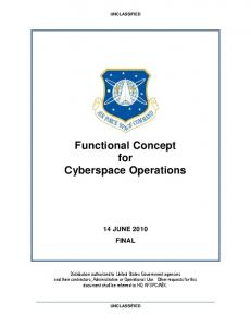 Functional Concept for Cyberspace Operations