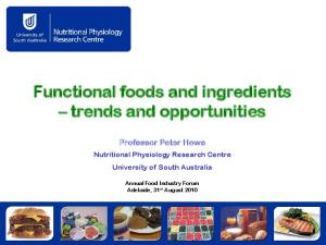 Functional foods and ingredients trends and opportunities
