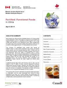 Functional Foods in China