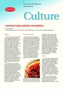 Functional foods: probiotics and prebiotics