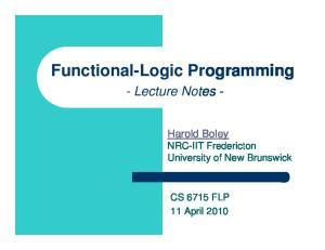 Functional-Logic Programming