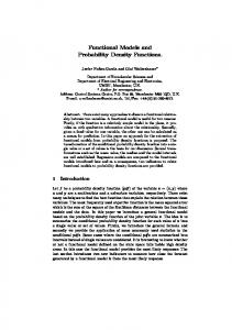Functional Models and Probability Density Functions