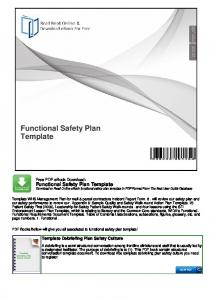 Functional Safety Plan Template