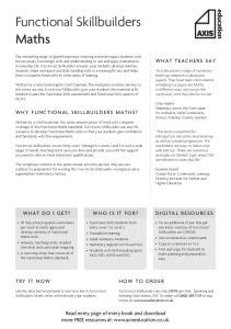 Functional Skillbuilders Maths